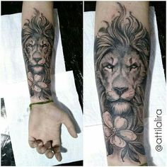 Lion Forearm Tattoos, Inner Forearm Tattoo, Inner Arm Tattoos, Leo Tattoos, Arm Band Tattoo, Lion Arm Tattoo, Mens Lion Tattoo, Body Art Tattoos, Tattoos For Guys