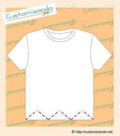 Mais 9 tipos de cortes para customizar uma camiseta | Customizando - Blog de customização de roupas e decoração