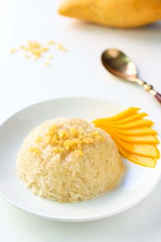 This Mango Sticky Rice recipe is a popular Thai dessert made from glutinous rice and coconut milk, served with sweet mango. This delicious treat is gluten free and my version also is refined sugar free.