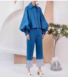22 Navy Fashion Trends For School – New York Fashion New Trends Denim Fashion, Hijab Fashion, Fashion Dresses, Womens Fashion, Cheap Fashion, Fall Fashion Trends, Fashion News, Autumn Fashion, Claudia Li