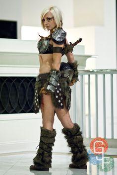 Videogame: Skyrim. Character: Viking Queen Dovahkiin. Cosplayer: Jessica Nigri. From. Arizona, US. Photo: GJF.