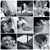 Collage Of Nine Wedding Photos In Gentle - Blue Tone Royalty Free Stock Photo, Pictures, Images And Stock Photography. Image 9441563.