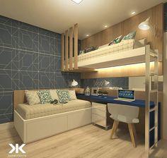 Beliche: 70 modelos perfeitos para quartos charmosos e funcionais Room Design Bedroom, Girl Bedroom Designs, Home Room Design, Kids Room Design, Bedroom Loft, Kids Bedroom, Bedroom Decor, Loft Bed Plans, Bunk Bed Rooms