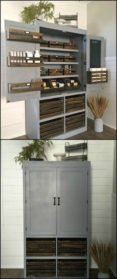 If you need just a small pantry for your small kitchen, then here's a DIY project for you! As long as you have enough space for a cabinet, you can build yourself this rustic freestanding kitchen pantry. It's perfect for those living in small homes or even apartments who need a 'temporary' storage for food. Be inspired by viewing our album of freestanding pantries and head over to the step-by-step tutorial...