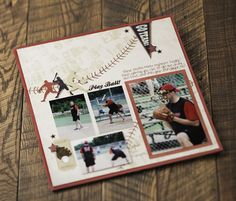 Baseball Additions Scrapbook Layout from Creative Memories