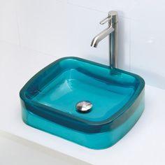 DECOLAV Incandescence Rectangular Vessel Bathroom Sink & Reviews | Wayfair