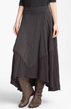 Donna Karan Collection Jersey & Voile Full Skirt | Nordstrom