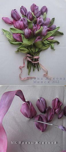 Мастер-класс Ирины Жуковой по вышивке букета тюльпанов