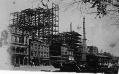 Augusta Georgia Construction of the Empire Life Insurance Company .. Lamar Building today on Broad Street , about 1913  | Car photo Picture from the famous muesum in Augusta