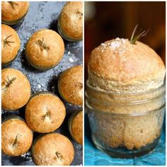Whole Wheat Dinner Rolls in a Jar. Give the breadbasket a personalized touch with these cute individual dinner rolls baked in a jam jar. Pan Comido, Whole Wheat Rolls, Meals In A Jar, Bread Rolls, Dinner Rolls, Bread Baking, Baking Muffins, Bread Recipes, Jar Recipes