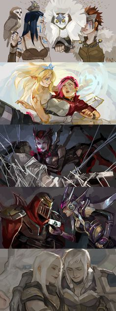 [LoL] champs compilation 4 by zuqling on deviantART