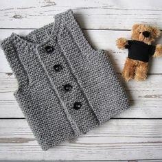 "27 Beğenme, 1 Yorum - Instagram'da AnaValenArt (@anavalenart): ""Knit baby vest | Baby waistcoat http://etsy.me/2nZC3Lb . . . . . . #clothing #children #baby…"""