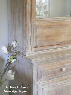 Painted Furniture: Washed Wood Annie Sloan Old White is a fantastic soft white that can create a great aged washed wood finish, video tutorial Refurbished Furniture, Furniture Makeover, Dresser Makeovers, Furniture Projects, Wood Furniture, White Washed Furniture, Brown Furniture, Furniture Refinishing, How To Whitewash Furniture