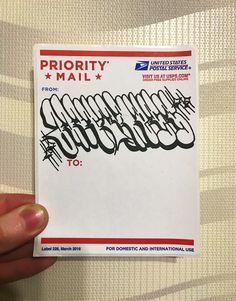 Sticker art priority mail