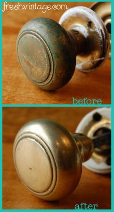 How to Clean Vintage Metal Hardware | Before & After Makeovers ...