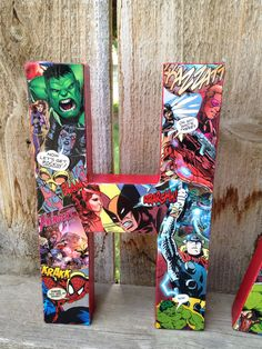 "Custom Handmade ""All Things Avengers"" Comic Book Letters, Child's Room Wall Decor, Teacher's Appreciation Gift, or Party Centerpiece. $14.00 USD, via Etsy."