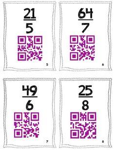 QR Code Task Cards: Improper Fractions to Mixed Numbers - Mrs Lyon - TeachersPayTeachers.com