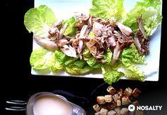 Cézár saláta joghurtos öntettel | NOSALTY Cabbage, Meals, Vegetables, Simple, Recipes, Food, Meal, Essen, Eten