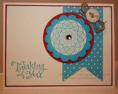 "Julia Sue's Stamping  Made this card for a couple of friends who could use something ""cheery"" about now!"