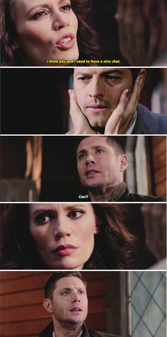 11x18 Hell's Angel // Amara: I think you and I need to have a nice chat. Dean: Cas??