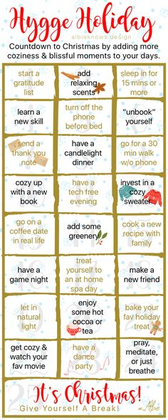 Albie Knows 25 Days of Hygge Challenge Hygge Christmas, Christmas Love, Christmas Countdown, Christmas Ideas, Hygge Life, Hygge House, Winter Survival, Advent Calenders, Winter Time