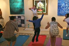 YogART (a workshop with Yoga and Art) is way to much for all. Some people fly in it :)