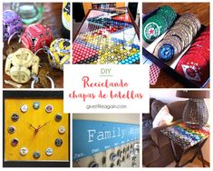 Más de 20 ideas sobre cómo reutilizar chapas de botellas. Gift Wrapping, Diy Crafts, Ideas, Gifts, Bottle Cap Crafts, Recycled Bottles, Poker Chips, Recycled Crafts, Upcycle
