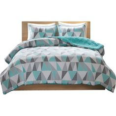 Hashtag Home Casserly Reversible Comforter Set Size: Full/Queen, Color: Aqua Teal Bedspread, Teal Bedding Sets, Teal Comforter, Girls Bedding Sets, Ruffle Bedding, Comforter Sets, Teen Bedding, Girls Bedspreads, Comforters
