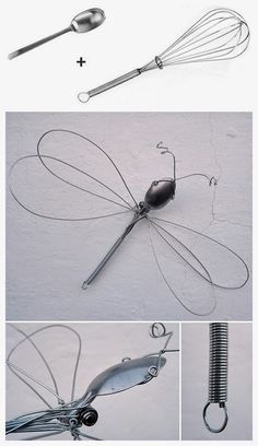 DIY Whisk Dragonfly diy ideas crafts do it yourself