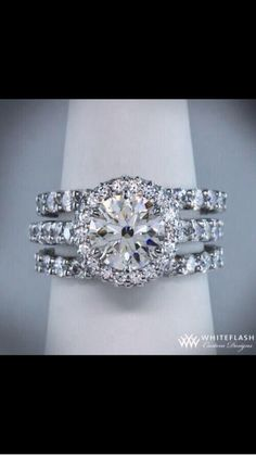 Engagement Ring in a Wedding Band