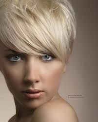 A short blonde hairstyle From the Abacus Hair Studio Collection Short Blonde Haircuts, Straight Hairstyles, Blonde Hairstyles, Cropped Hairstyles, 2014 Hairstyles, Haircut Short, Pixie Haircuts, Blonde Hair Designs, Short Platinum Blonde Hair