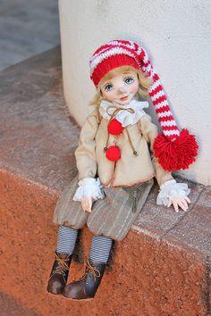 Коллекционные куклы ручной работы. Заказать Буратино. YanaDolls. Ярмарка Мастеров. Буратино, текстиль