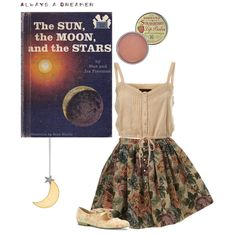 """Always a dreamer."" by ofmoons on Polyvore"