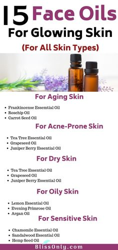 Try these 15 best face oil for glowing skin. In this article you will get to know about natural face oils that benefit aging skin dry skin oily skin acne sensitive or irritated skin. Check out how to use them for getting healthy and glowing skin. Oily Skin Care, Healthy Skin Care, Acne Prone Skin, Skin Care Tips, Healthy Aging, Skin Tips, Healthy Oils, Juniper Berry Essential Oil, Essential Oils