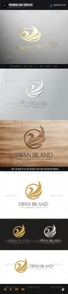 Swan Brand — Photoshop PSD #swan #phoenix • Available here → https://graphicriver.net/item/swan-brand/7182738?ref=pxcr