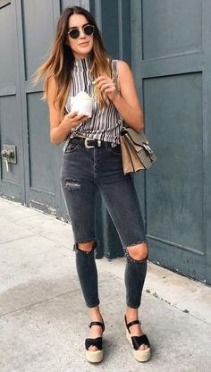 summer style. flatform sandals. stripes.