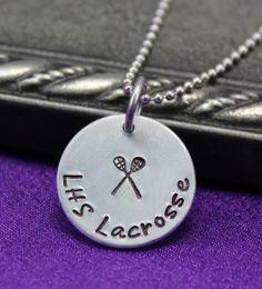 Lacrosse Necklace Sports necklace Lacrosse by thirtyoneshekels, $17.00