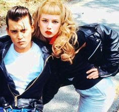 """Johnny Depp and Traci Lords in """"Cry Baby"""", 1990"""