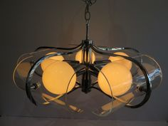 Chrome And Lucite Sputnik Mid-Century Modern Five Light Chandelier, In The Manner Of Geatano Sciolari. by FLORIDAMODERN on Etsy