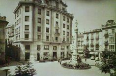 plaza Sta. catalina la union y el fenix en vez del edificio del contraste DESTRUIDO y conservadas parte de sus fachadas junto al museo de las bellas artes