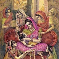 Jaya all Gopis. Yashoda Krishna, Bal Krishna, Krishna Leela, Cute Krishna, Radha Krishna Photo, Radhe Krishna, Lord Krishna, Krishna Drawing, Krishna Painting