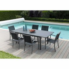 Table de jardin rectangulaire en durawood blanc sable ferrol les tables - Ikea table rectangulaire ...