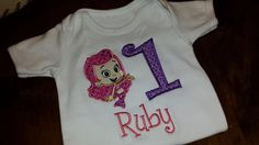 Bubble Guppies Embroidery Shirt FREE US by SouthernBlingBowtiqu, $23.00