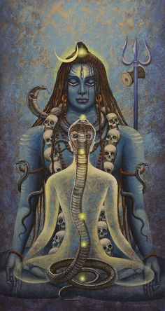 Kundalini Shakti Painting- This totally reminds me of some kitsch movie I will strive to remember. Lrl