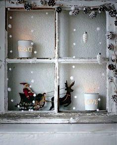 Fensterdeko Weihnachten xMas