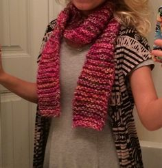 Hand Knitted Breast Cancer Awareness Pink Scark  by KnittingQueen2013 on Etsy! Get your scarf orders in!