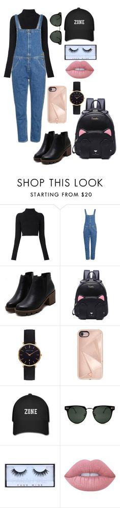 """Untitled #318"" by catarina-de-sousa-lopes on Polyvore featuring Balmain, M.i.h Jeans, Abbott Lyon, Rebecca Minkoff, Spitfire, Huda Beauty and Lime Crime"