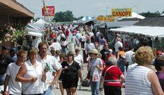 Shipshewana Flea Market -- A huge outdoor flea market in Shipshewana, IN, in Amish country.