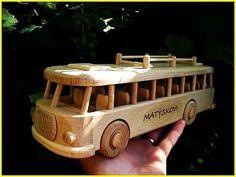 Autobus hračka pre děti Wooden Toys, Wood Toys