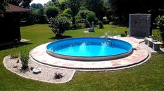 With a great pool every garden becomes a real highlight. - Wasser im Garten - pool Small Backyard Design, Backyard Pool Designs, Backyard Garden Design, Swimming Pool Designs, Terrace Garden, Swimming Pools, Pool Garden, Terrace Ideas, Piscine Diy